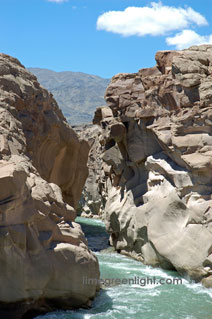 devil's throat on the Rio San Juan near San Juan Argentina